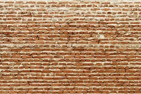 Under construction brick wall photo