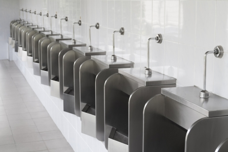 Pattern of urinals for men Stock Photo
