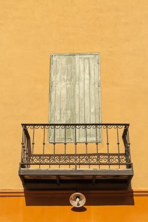 Retro balcony and window photo