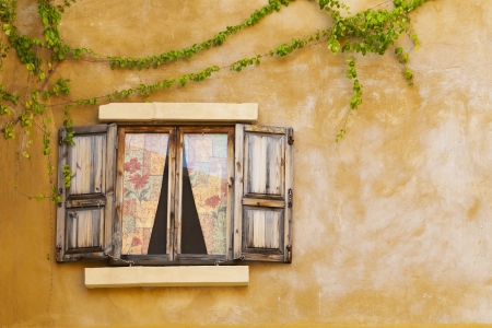 Retro window and wall photo