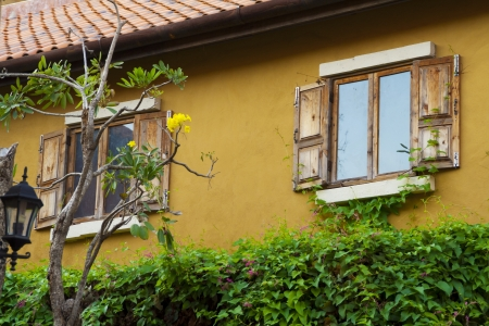 Vintage windows and wall Stock Photo - 14841948