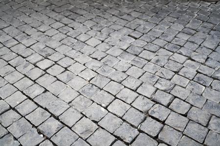 The pattern of stone block paving photo