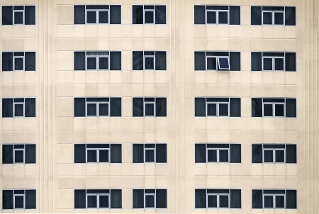 Many windows on a building