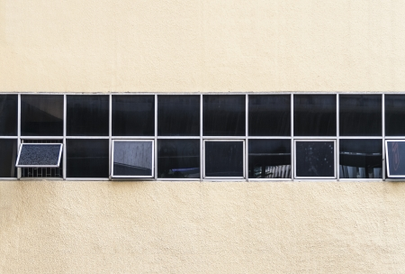 Long windows on wall photo