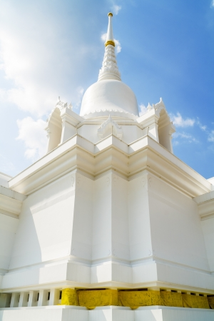 The Thai architecture of temple or church in Thailand photo
