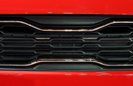 red metal: Grille frame