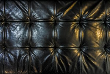 Black leather cushion Stock Photo - 17495100