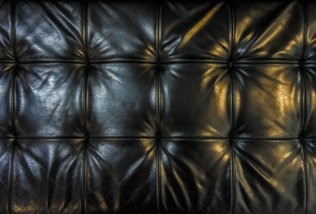 hardwearing: Black leather cushion