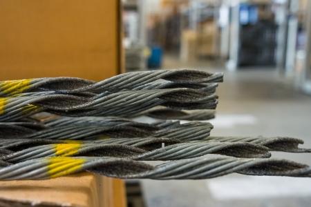 Preformed guy grips in warehouse Stock Photo - 17495090