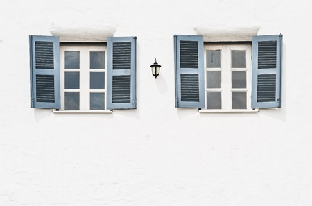 Double vintage windows photo