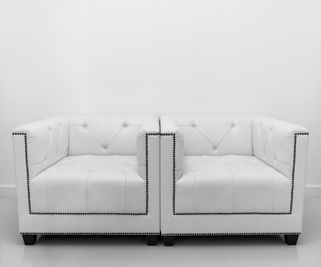 White leather sofa photo