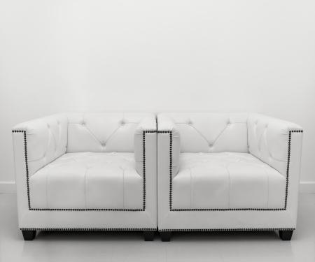 artistic designed: White leather sofa