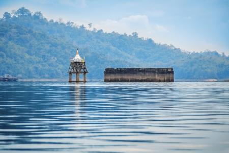 wiwekaram: The ancient remains of old Wang Wiwekaram temple at Sangkhla Buri