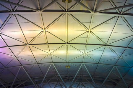 Roof structure in modern building photo