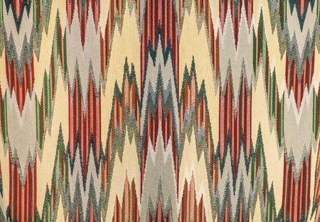 Zigzag design on textile photo