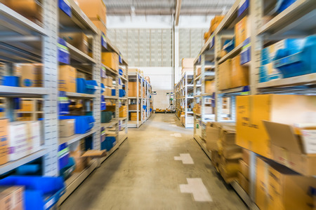 storeroom: In warehouse Stock Photo