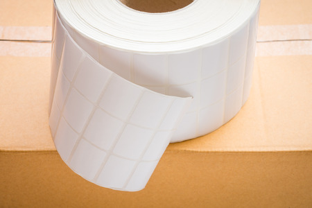 Roll of Barcode Label Stickers for industrial barcodes and tags