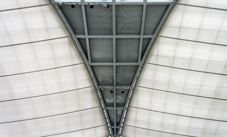Structure metal and fabric of modern roof Stock Photo