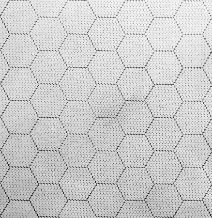 constructed: The hexagon pattern constructed with many circle dots Stock Photo
