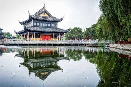 zhouzhuang: Zhigui Pavilion in Quanfu Temple which is one of the most important scenic spots in Zhouzhuang