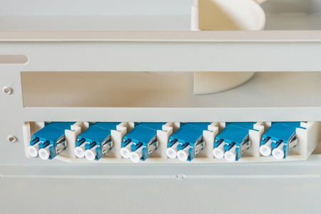 The optical fiber connectors are arranged in a optical fiber distribution frame
