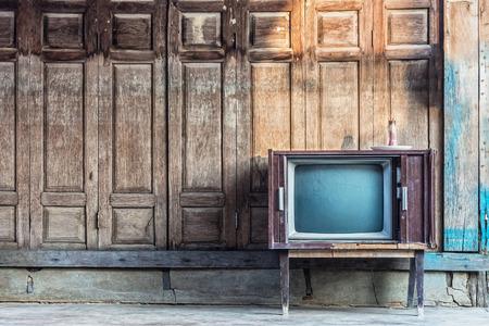 Vintage televisie Stockfoto