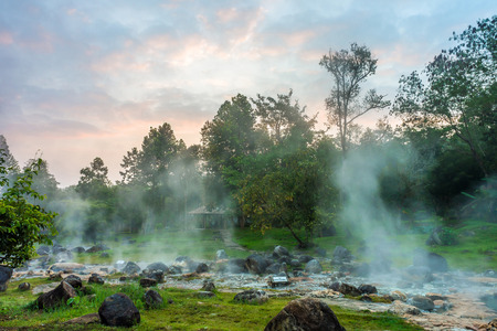 The hot spring at Chae Son National Park in Lampang province, Thailand