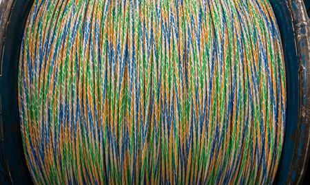 fiber cable: A roll of optical fiber cable