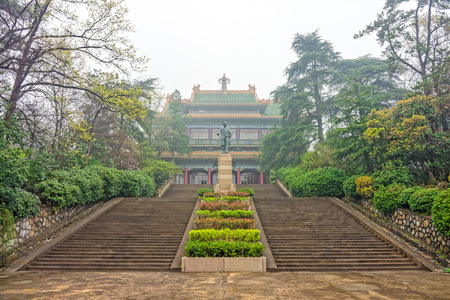 woodland sculpture: Memorial Hall of former president Dr.Sun Yat-sen near Nanjing City