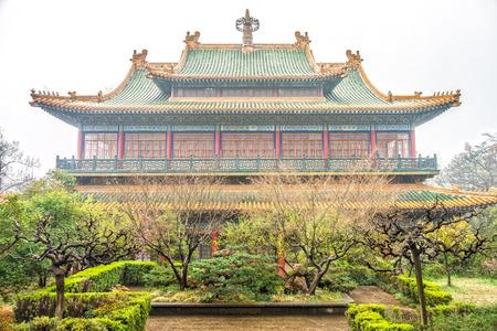 yat: Memorial Hall and garden of former president Dr.Sun Yat-sen near Nanjing City