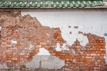 chinese wall: L'antica muraglia cinese abbandonato Archivio Fotografico