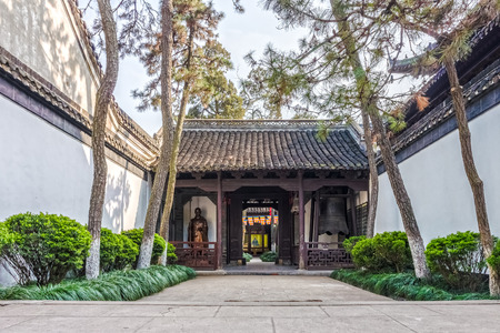 The building and construction in Daming Temple. They are in Yangzhou, Jiangsu province, China photo