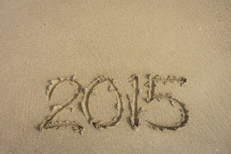 anno: Year 2015 on the beach