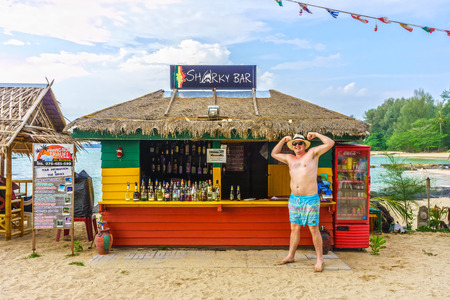 potation: The Sharky bar is famous for foreign tourist. It is at Pak Weep beach, Khao Lak, Southern Thailand. Editorial