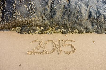 Year 2015 on the beach