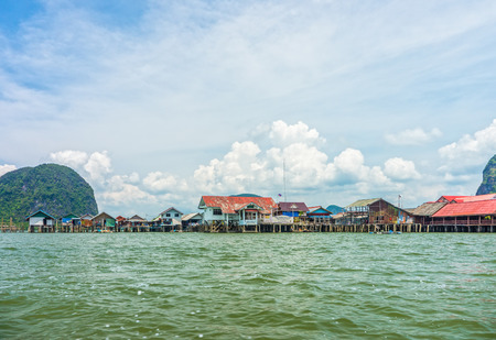 southern thailand: The landscape view of local thai village in Phang Nga bay, Southern Thailand