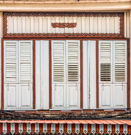 architectural style: Sino-Portuguese Architecture of many the buildings in Phuket town. These old buildings have been constructed more than hundred years and this architectural style is European mixed with Chinese modern.