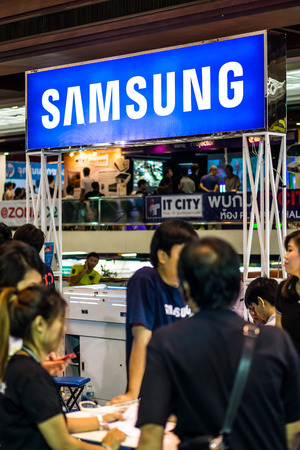 joins: BANGKOK, THAILAND - MARCH 22, 2015: Samsung joins the Commart Thailand Editorial