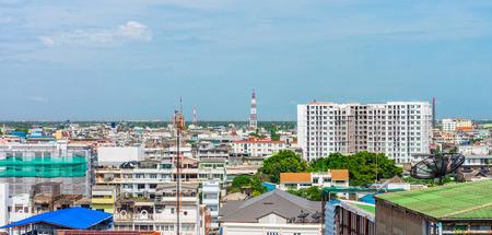mediodía: Paisaje urbano al medio d�a de la ciudad de Bangkok, Tailandia