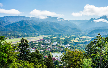 mountaintop: The natural landscape view of Mae Hong Son Province from mountaintop in Northern Thailand