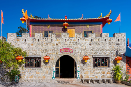chon: Vintage castle at Santi Chon Chinese village in Pai district, Mae Hong Son Province, Northern Thailand Editorial