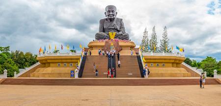 pu: Luang Pu Thuat statue at Wat Huai Mongkhon temple. The famous landmark in Hua Hin, Prachuap Khiri Khan.