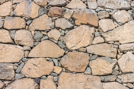 dry stone: Natural dry stone wall. The  structures are constructed from stones or rocks  without any mortar to bind them together