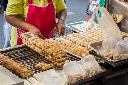 bake sale: Thai roasted banana. For sale in Thailand fresh food market.