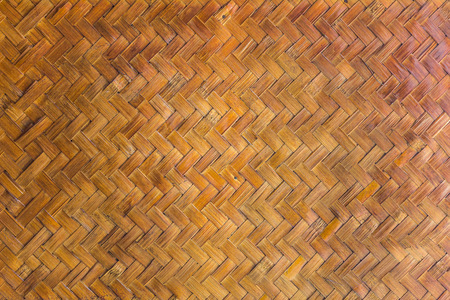 rigid: Twill wickerwork of vintage Thai wall. The natural wicker is a rigid material made of bamboo plant stalks.
