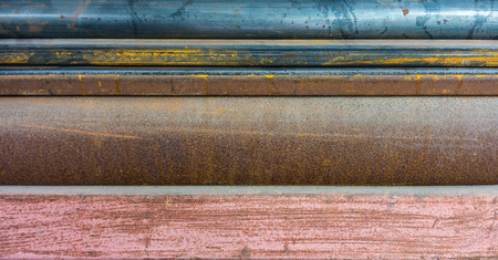rustiness: Texture of rusty metals. The surface of round steel pipes and light channel irons.
