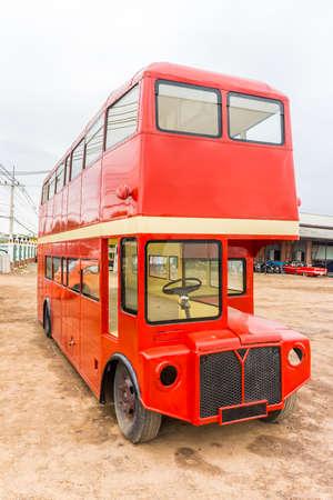 buss: Red double decker London buss body. The model of passenger vehicle.