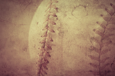 Vintage brown background with Baseball and copy space
