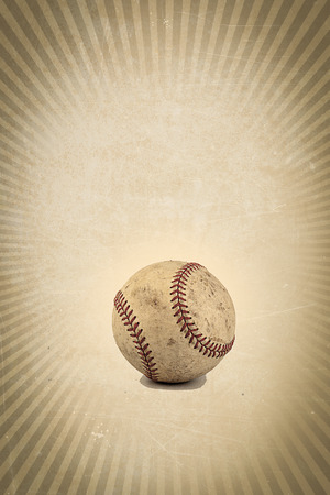 Vintage brown background with Baseball and copy space  photo
