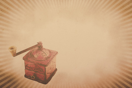 Vintage  coffee grinder background with copy space  horizontal  photo